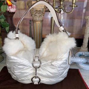 Coach soho real fur bag 3487